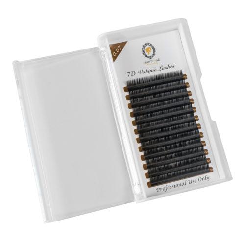 """7D VOLUME mihalnice 0,07 D- jemné, s 0% váhou, vhodné na techniku """"viazania"""", žiadané pre efekt plný nežného objemu. Nevtieravé, elegantné riasy"""
